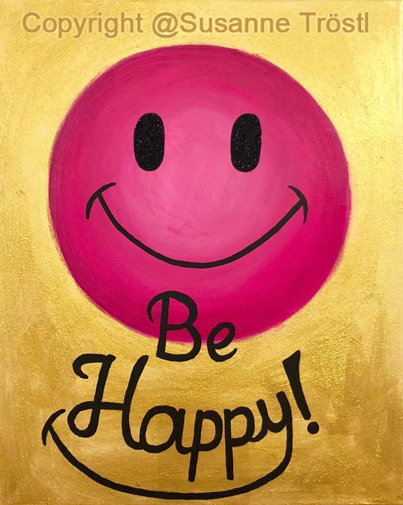 be-happy-pink-40x50